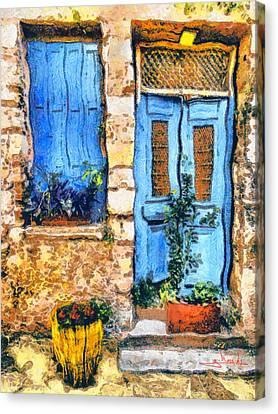 Greek House 66 Canvas Print by George Rossidis