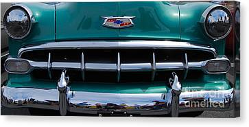 Green '54 Chevy Grill Canvas Print by Mark Spearman