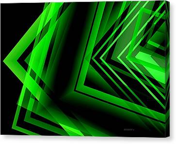 Green Abstract Geometric Canvas Print by Mario Perez