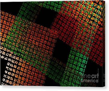 Green And Red Square  Canvas Print by Mario  Perez