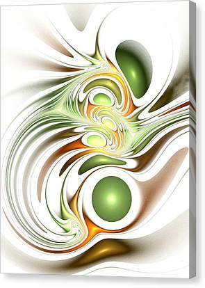 Green Creation Canvas Print by Anastasiya Malakhova