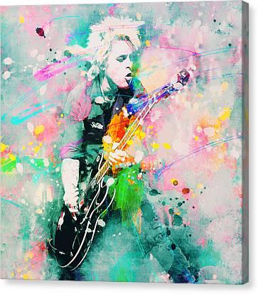 Green Day  Canvas Print by Rosalina Atanasova