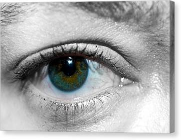 Green Eye Canvas Print by Guinapora Graphics