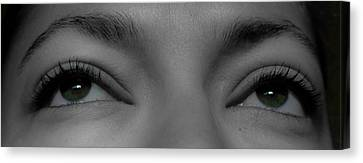 Green Eyes Canvas Print by Guinapora Graphics