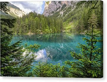 The Green Lake Canvas Print by Alex Galiano