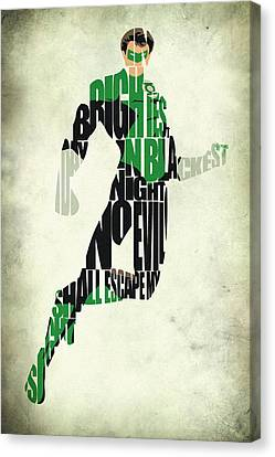 Green Lantern Canvas Print by Ayse Deniz