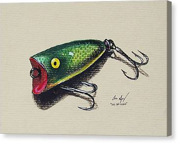 Green Lure Canvas Print by Aaron Spong
