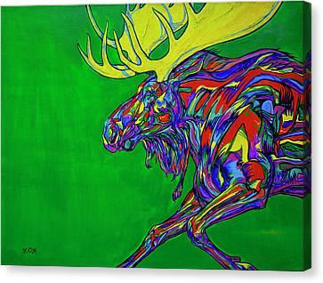 Green Mega Moose Canvas Print by Derrick Higgins