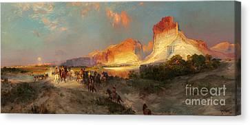 Green River Cliffs Wyoming Canvas Print by Thomas Moran