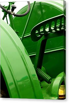 Green Tractor Canvas Print by Michael Allen