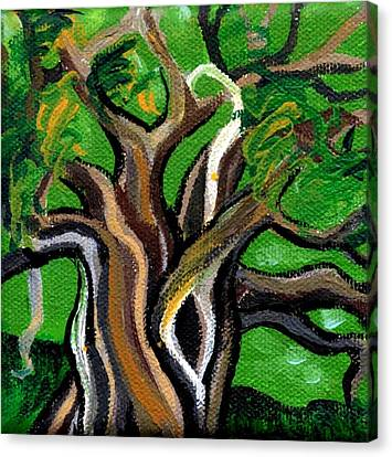 Green Tree Canvas Print by Genevieve Esson