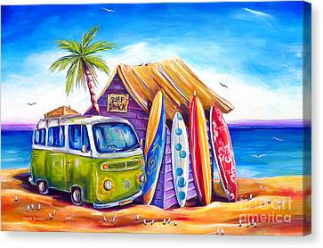 Greenie Canvas Print by Deb Broughton