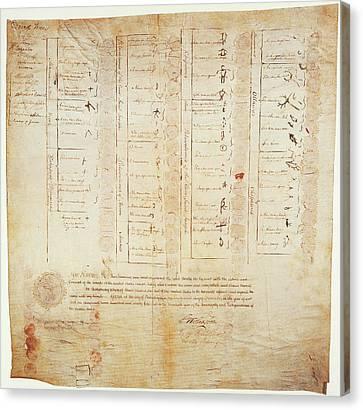 Greenville Treaty, 1795 Canvas Print by Granger