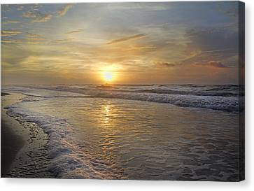 Greetings From Topsail Canvas Print by Betsy C Knapp