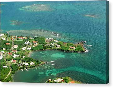 Grenada, Aerial View Of City Of St Canvas Print by Anthony Asael