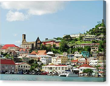 Grenada, St George, Carenage, View Canvas Print by Anthony Asael