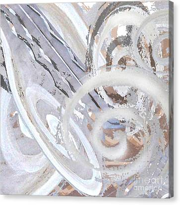 Grey Abstraction 3 Canvas Print by Eva-Maria Becker