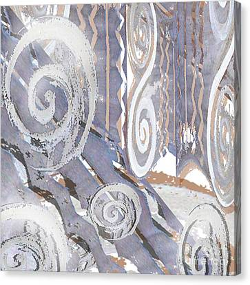 Grey Abstraction 4 Canvas Print by Eva-Maria Becker