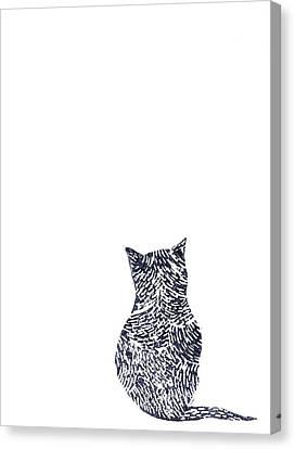 Grey Cat Canvas Print by Sharon Neudeck