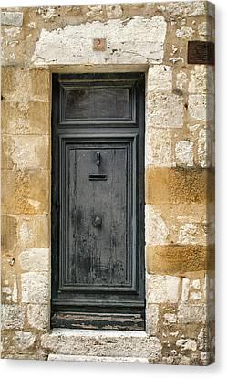 Grey Door Number 2 Canvas Print by Georgia Fowler