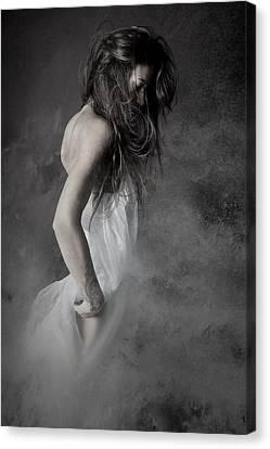 Grey Canvas Print by Olga Mest
