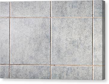 Grey Tiles Canvas Print by Tom Gowanlock