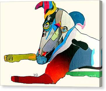 Greyhound Jill Canvas Print by Bri B