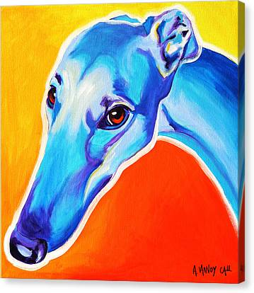 Greyhound - Lizzie Canvas Print by Alicia VanNoy Call