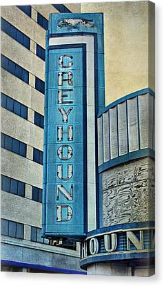 Greyhound Sign Canvas Print by Sandy Keeton