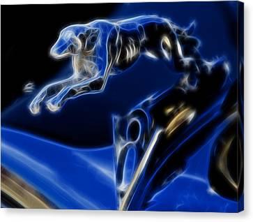 Greyhound V8 Canvas Print by Ricky Barnard