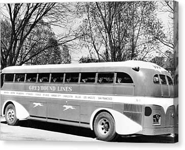 Greyhound X-1 Super Coach Bus Canvas Print by Underwood Archives