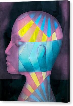 Grid Head Canvas Print by Jeff  Gettis
