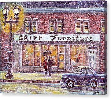 Griff Valentines' Birthday Canvas Print by Rita Brown