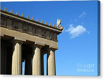 Griffon On The Parthenon  Canvas Print by Jeff Holbrook