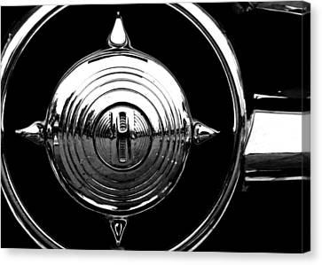 Grill Bullet 1949 Ford Custom V-8 Canvas Print by Jon Woodhams