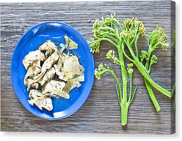 Grilled Artichoke And Brocolli Canvas Print by Tom Gowanlock