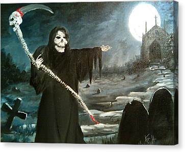 Grim Creeper Canvas Print by Kevin F Heuman