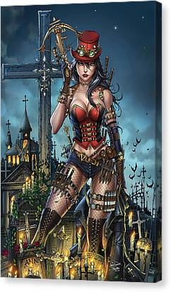 Grimm Fairy Tales Unleashed 01b Van Helsing Canvas Print by Zenescope Entertainment