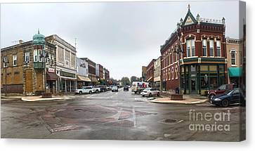 Grinnell Iowa - Downtown - 05 Canvas Print by Gregory Dyer