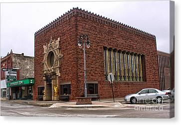 Grinnell Iowa - Louis Sullivan - Jewel Box Bank - 01 Canvas Print by Gregory Dyer