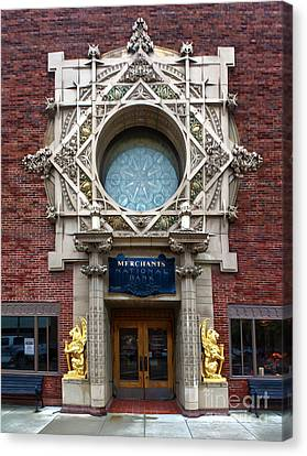 Grinnell Iowa - Louis Sullivan - Jewel Box Bank - 05 Canvas Print by Gregory Dyer