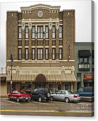Grinnell Iowa - Masonic Temple -01 Canvas Print by Gregory Dyer