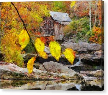 Grist Mill Canvas Print by Elizabeth Coats