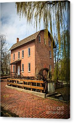 Grist Mill In Deep River County Park Canvas Print by Paul Velgos