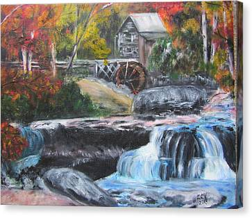 Grist Mill In West Virginia Canvas Print by Lucille  Valentino
