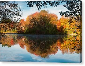Grist Millpond Framed Canvas Print by Michael Blanchette