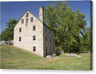 Gristmill @ Mount Vernon Canvas Print by Jason Huffman