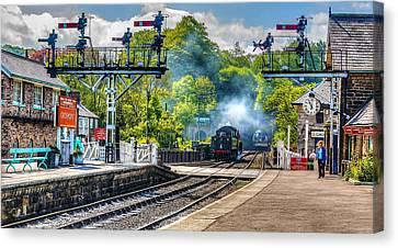 Grosmont Railway Station Canvas Print by Trevor Kersley