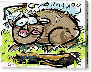 Groundhog Canvas Print by Brett LaGue