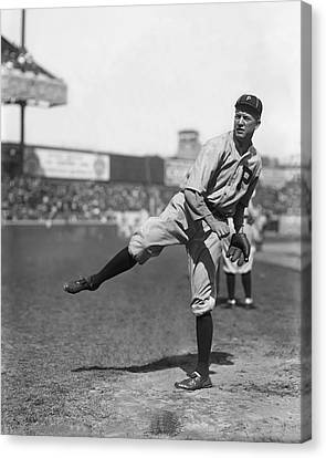 Grover Cleveland Alexander Follow Through Canvas Print by Retro Images Archive